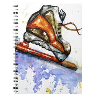 Cuaderno Patín de hielo de la acuarela