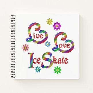 Cuaderno Patín de hielo vivo del amor