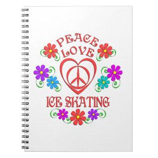 Cuaderno Patinaje de hielo del amor de la paz