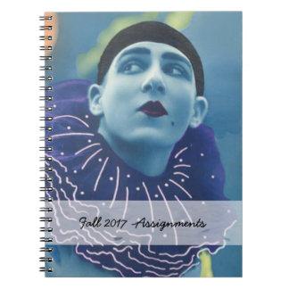 Cuaderno Payaso azul de la ópera