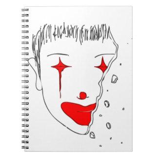 Cuaderno Payaso triste