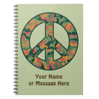 Cuaderno Paz colorida de Camo