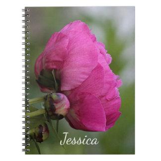 Cuaderno Peony rosado