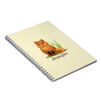 Cuaderno Pequeño Fox lindo de nuevo a escuela
