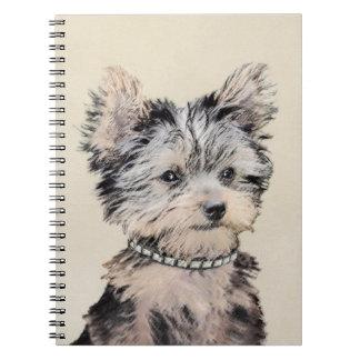 Cuaderno Perrito de Yorkshire Terrier que pinta arte