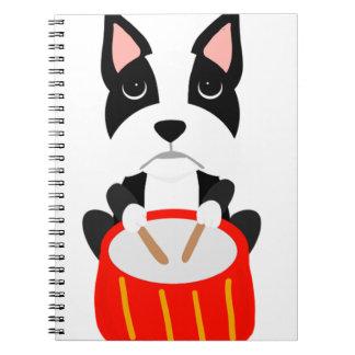 Cuaderno Perro fresco de Boston Terrier que juega los