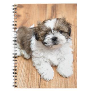 Cuaderno Perro joven de Chu de la ji que miente en piso de