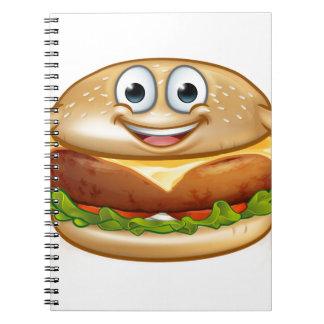 Cuaderno Personaje de dibujos animados de la mascota de la