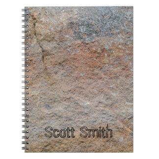 Cuaderno Cuaderno personalizado de la cara de la roca