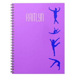 Cuaderno personalizado de la gimnasia de los chica