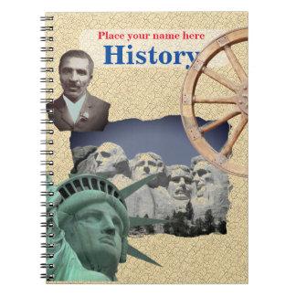 Cuaderno personalizado de la historia