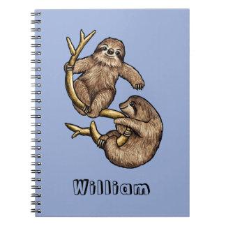 Cuaderno personalizado pereza que sube