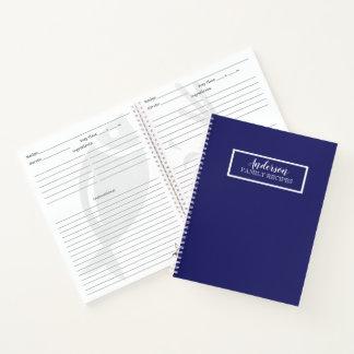 Cuaderno Personalizar del color sólido de los azules