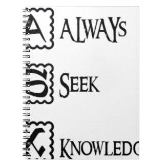 Cuaderno Pida, busque siempre el conocimiento