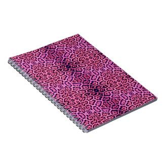 Cuaderno Piel de Jaguar en rosa y púrpura