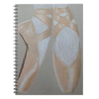 Cuaderno Pies del ballet de Pointe