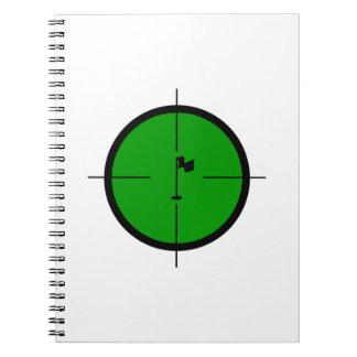 Cuaderno Pin del golf en los retículos