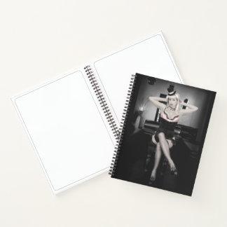 Cuaderno Pin del rosa y del bailarín del sombrero de copa