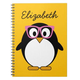 Cuaderno Pingüino del inconformista - rosa lindo del amaril