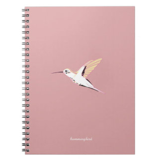 Cuaderno Pink cute elegant feminine whimsical hummingbirds