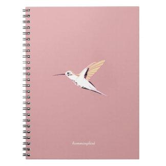 Cuaderno Pink cute elegant feminine whimsical hummingbirds