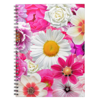 Cuaderno Pink flowers_ Gloria Sanchez