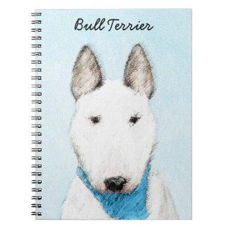 Cuaderno Pintura de bull terrier - arte original lindo del