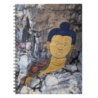 Cuaderno Pintura de la roca de Buda