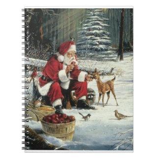 Cuaderno Pintura de Papá Noel - arte del navidad