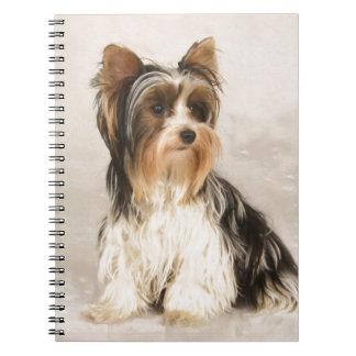 Cuaderno Pintura de Srta. Mia Photo de Yorkie del retrato
