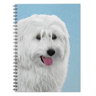 Cuaderno Pintura polaca del perro pastor de la tierra baja