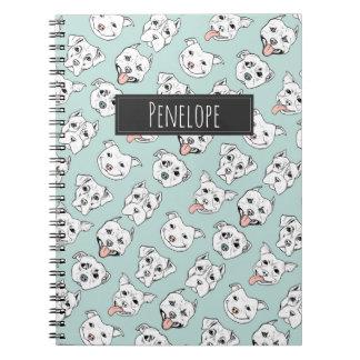 Cuaderno ¡Pittie Pittie por favor! El modelo el   del perro
