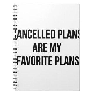 Cuaderno Planes cancelados