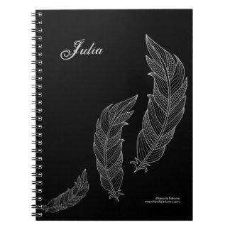 Cuaderno Plantilla conocida negra gris del esquema del arte