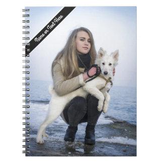 Cuaderno Plantilla de encargo de la foto del perro y del