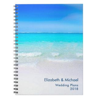 Cuaderno Playa tropical con planes de la turquesa de un