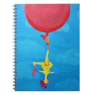 Cuaderno Pollo de goma colgante