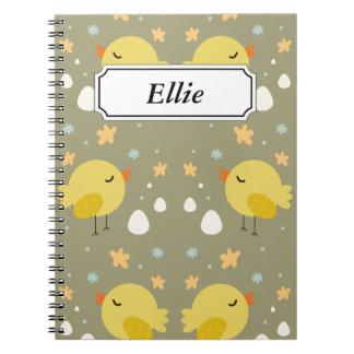 Cuaderno Polluelos lindos de pascua y pequeño modelo de los