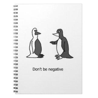 Cuaderno positivo del pingüino