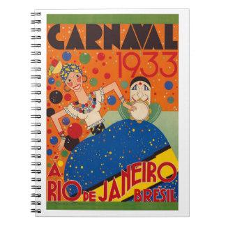 Cuaderno Poster 1933 del World Travel del vintage del