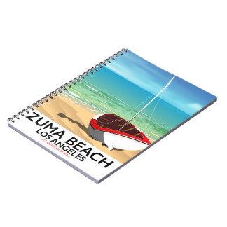 Cuaderno Poster de la playa del carril del LA de la playa
