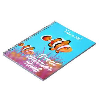 Cuaderno Poster del dibujo animado de los pescados del