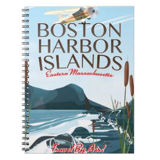 Cuaderno Poster del vuelo de Massachusetts del puerto de