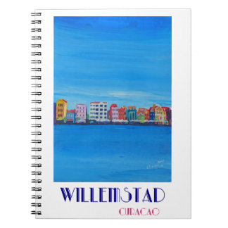 Cuaderno Poster retro Willemstad Curaçao