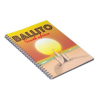 Cuaderno Poster surafricano del viaje de Ballito