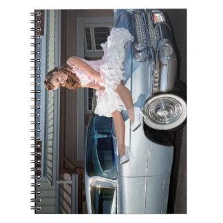 Cuaderno Princesa 1959 de Cadillac del carrito Pin Up Car
