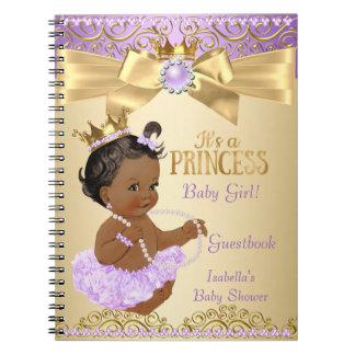 Cuaderno Princesa fiesta de bienvenida al bebé de la