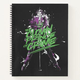 Cuaderno Príncipe Of Crime Ink Art del payaso del comodín