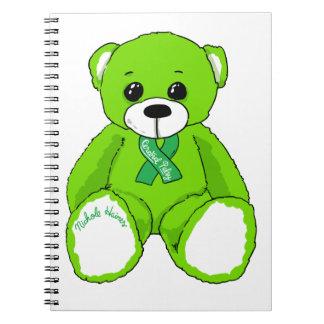 Cuaderno Productos del oso de peluche de la conciencia de