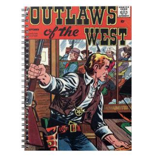 Cuaderno Proscritos de la cubierta del oeste del vintage